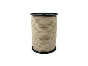 Hemp braided cord, Ø 2 mm,  bobbin 100m or 500m