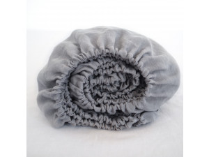 Linen fitted sheet - GREY