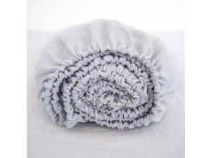Linen fitted sheet - LIGHT GREY