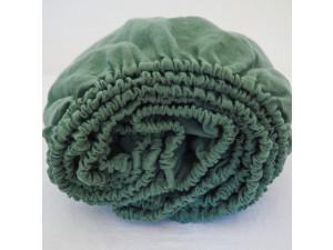 Linen fitted sheet - GREEN