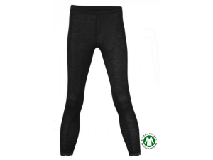 BIO-Merino Silk Women's  Leggins, with lace, BLACK