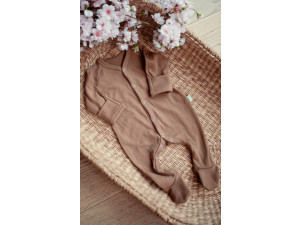 ECO Merino baby roomper - BROWN -  size 56 to 104