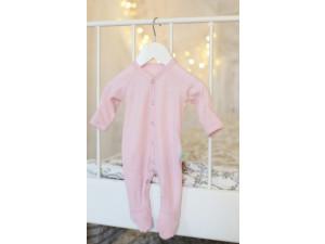 ECO Merino baby roomper - PINK -  size 56 to 104