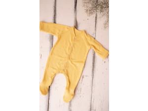 ECO Merino baby roomper - YELLOW -  size 56 to 104