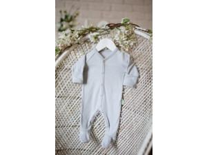 ECO Merino baby roomper - GREY -  size 56 to 104