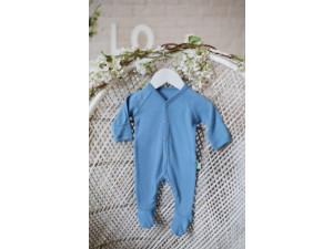 ECO Merino baby roomper - LIGHT BLUE -  size 56 to 104