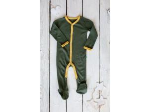 ECO Merino baby roomper - GREEN -  size 56 to 104