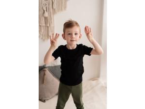 BIO Merino children's shirt - BLACK -  size 122 to 152