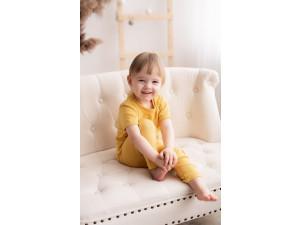BIO Merino children's shirt - YELLOW -  size 122 to 152