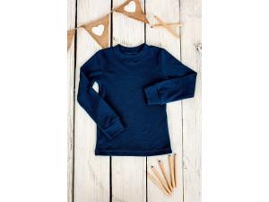 BIO Merino children's shirt - BLUE -  size 122 to 152