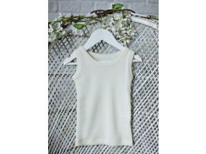 BIO Merino children's shirt sleeveless - NATURAL -  size 122 to 152