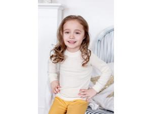 BIO Merino children's shirt - NATURAL -  size 122 to 152