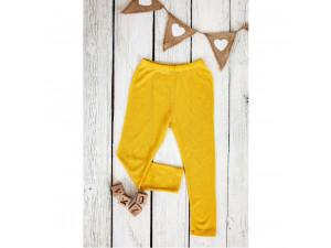 ECO Merino children's leggings - YELLOW -  size 122 to 152