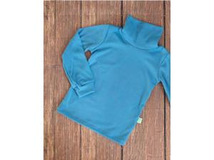 ECO Merino children's high neck shirt - LIGHT BLUE - size 122 to 152