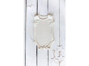 ECO Merino-Silk Baby body, NATURAL -  size 56 to 104