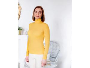 BIO Merino Women's Polo neck - YELLOW