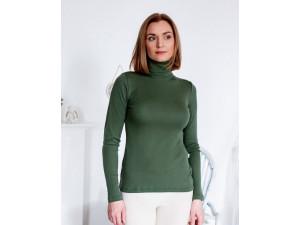 BIO Merino Women's Polo neck - GREEN