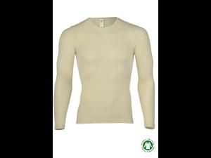 BIO Merino-Silk  Men's Long Sleeves vest, NATURAL