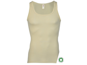 BIO Merino-Silk  Men's Sleeveles vest, NATUR