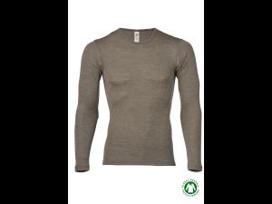 BIO Merino-Silk  Men's Long Sleeves vest, WALNUT BROWN
