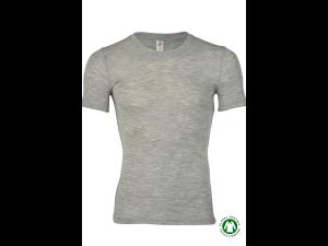 BIO Merino-Silk  Men's Vest, short sleeves, GREY