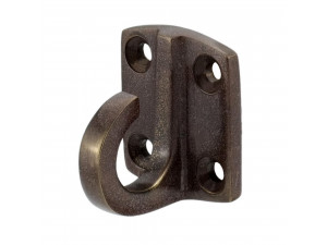 Wall Bracket with hook for rope Ø 30 or 40 mm - BRONZE