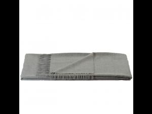 Baba Alpaca blanket with fringe - GRAY