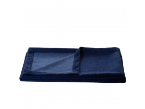 Doubleface cashmere lambswool blanket - BLUE