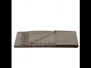 Cashmere Sheep Woll Blanket - BEIGE Stripes
