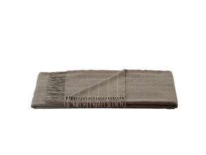 Cashmere Sheep Woll Blanket - BROWN Stripes