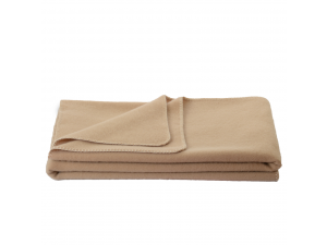 Wool blanket, Velour - BEIGE