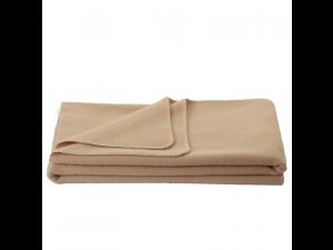 Chlidren's sheep wool blanket, Velour - BEIGE
