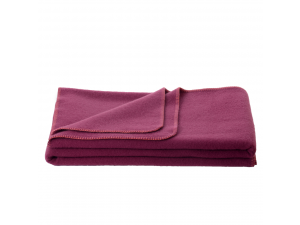 Wool blanket, Velour - PURPLE