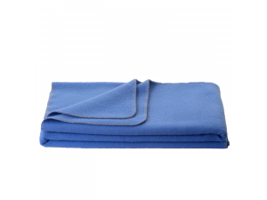 Wool blanket, Velour - BLUE