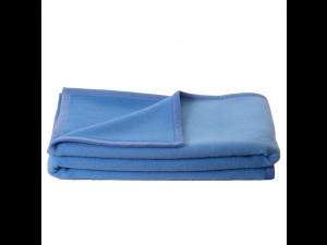 BIO Doubleface chlidren's sheep wool blanket - BLUE / LIGHT BLUE