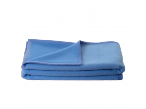BIO Doubleface wool blanket - BLUE / LIGHT BLUE