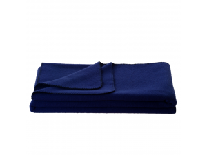 Chlidren's sheep wool blanket, Velour - BLUE