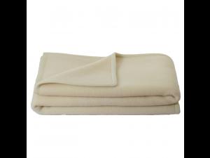 BIO Doubleface wool blanket - NATURAL