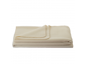 Wool blanket, Velour - NATURAL