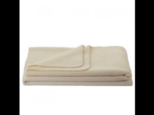 Chlidren's sheep wool blanket, Velour - NATUR