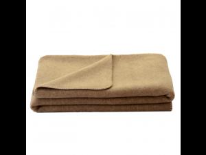 Chlidren's sheep wool blanket, Velour - NATURAL