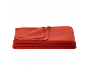 Wool blanket, Velour - ORANGE
