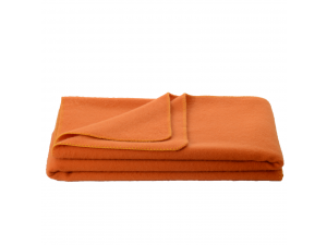 Chlidren's sheep wool blanket, Velour - ORANGE