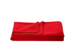 Wool blanket, Velour - RED