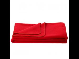 Chlidren's sheep wool blanket, Velour - RED
