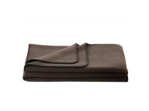 Wool blanket, Velour - BROWN