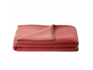 BIO Doubleface chlidren's sheep wool blanket - PINK / LIGHT PINK
