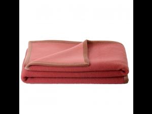 BIO Doubleface wool blanket - PINK / LIGHT PINK