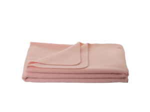 Wool blanket, Velour - PINK