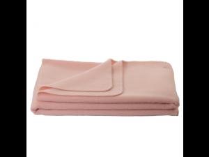 Chlidren's sheep wool blanket, Velour - PINK